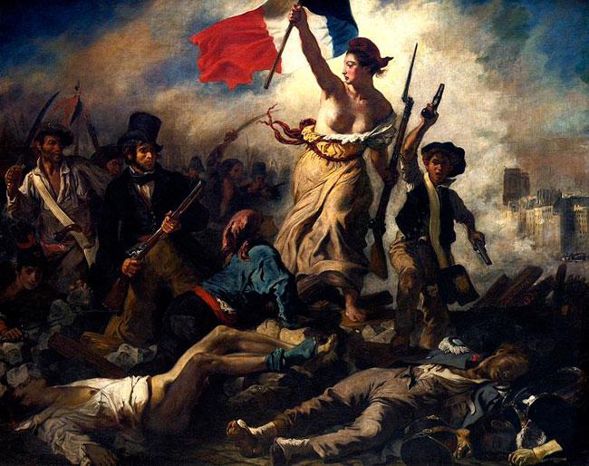 """""""La liberté guidant le peuple"""" de Delacroix"""