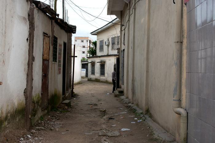 Ruelle du quartier Congo à Douala
