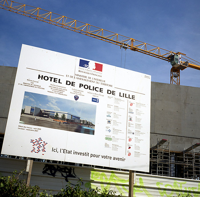 Construction du nouveau commissariat central à Lille Sud